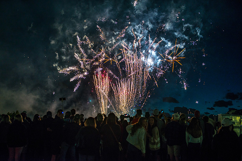 Colorado State University celebrates 2019 Homecoming with fireworks.
