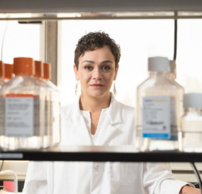 Professor Marcela Henao-Tamayo pictured in her laboratory